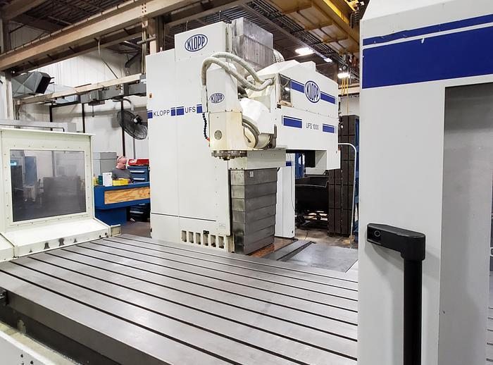 Used 2008 KLOPP MODEL UFS 1000 CNC FLOOR TYPE UNIVERSAL MILLING MACHINE