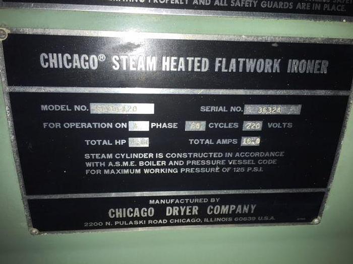"""CHICAGO 36"""" STEAM CYLINDER IRONER"""