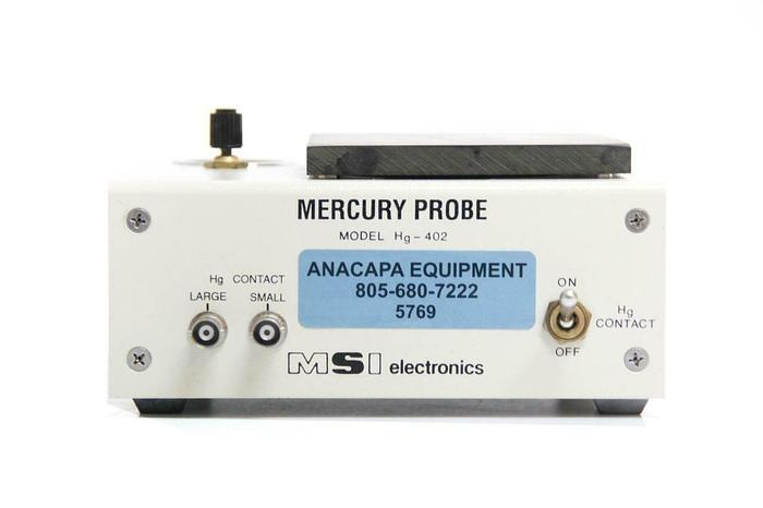 Used MSI Electronics Hg-402-2L Mercury Probe Measurement System (5769) G
