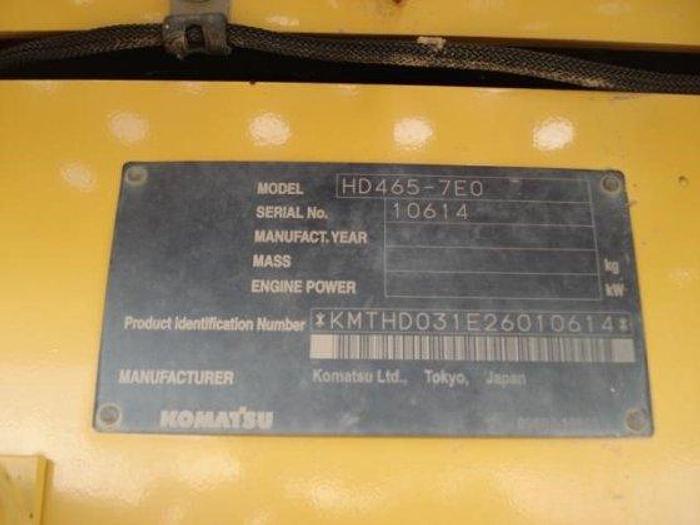 2009 KOMATSU HD465-7E0