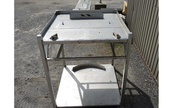 USED STAINLESS STEEL FRAME, 71'' X 71'' X 84'' HIGH