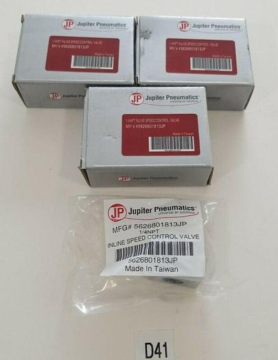 """*NEW IN BOX* LOT OF 3 Jupiter Pnuematics 5626801813JP 1/4"""" Male NPT Fitting 140P"""