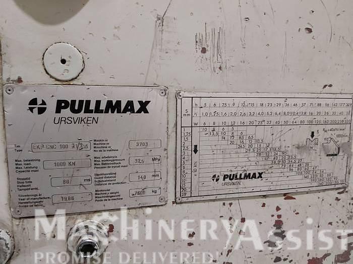Used 1986 Pullmax Ursviken EKP CNC 100 3.1/ 2.55 Pressbrake
