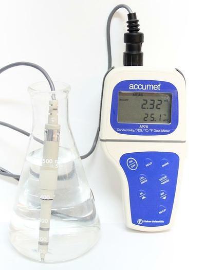 Used Accumet Fisher Scientific AP75 Portable Waterproof Conductivity Meter (4735)