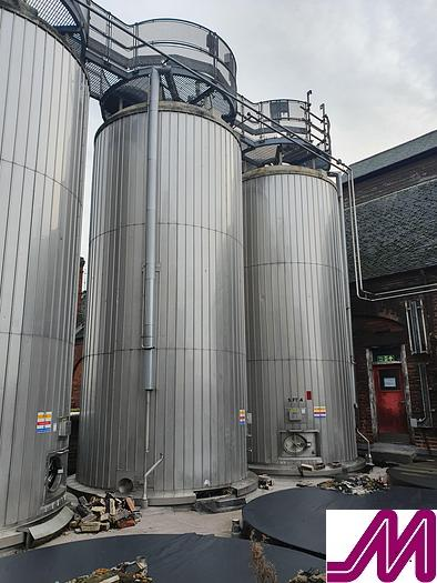 Used 50,000 Litre Stainless Steel Insulated & Clad Storage Tank