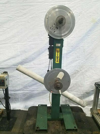 Used PA Industries Coilmate Double Motorized Stock Material Coil Payoff Reel Feed
