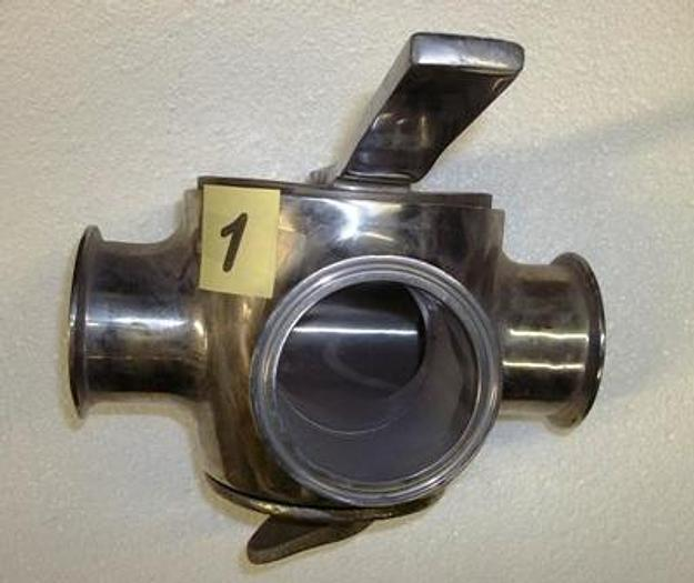 """Used 3"""" Triclover 3 way stainless steel valve - Stainless Fittings Equipment"""