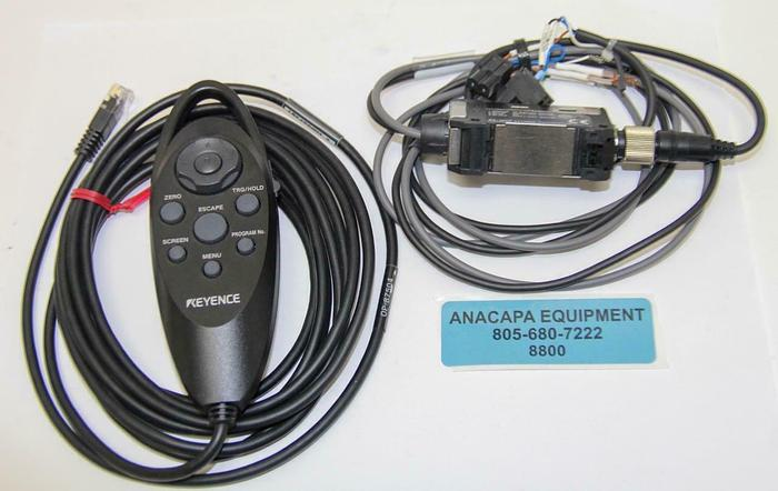 Used Keyence OP-87504 Handle Remote Controller, PX-10CP PhotoElectric Amplifier (8800