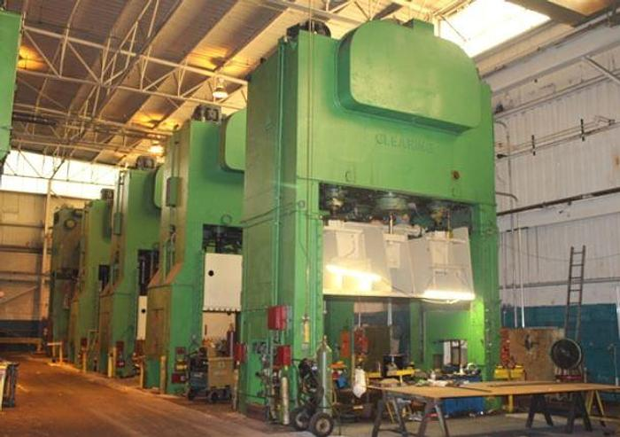 Used 600 ton Clearing (5) Press Tandem Line  S4-600-144-84