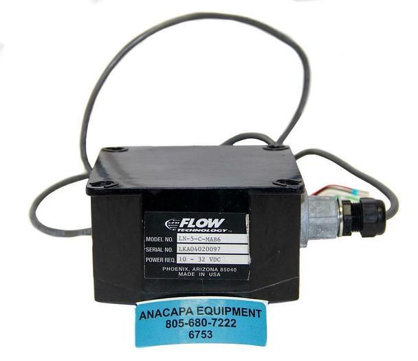 Used Flow Technology LN-5-C-MAB6 Sanitary Turbine FlowMeter, SA-20T2XW-LEG-5 (6753)W
