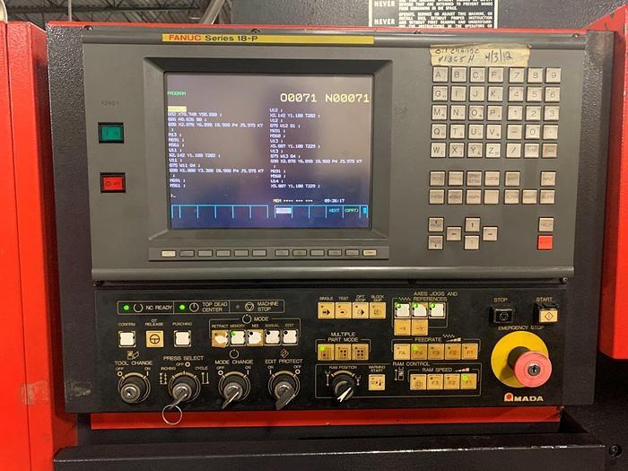 1998 33 Ton Amada Vipros 358 King II CNC Turret Punch