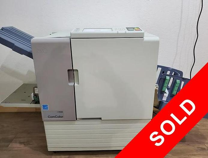 Used Riso ComColor 7010R Full Color Inkjet Printer with Auto Stacking Tray. Only 450K Meter!