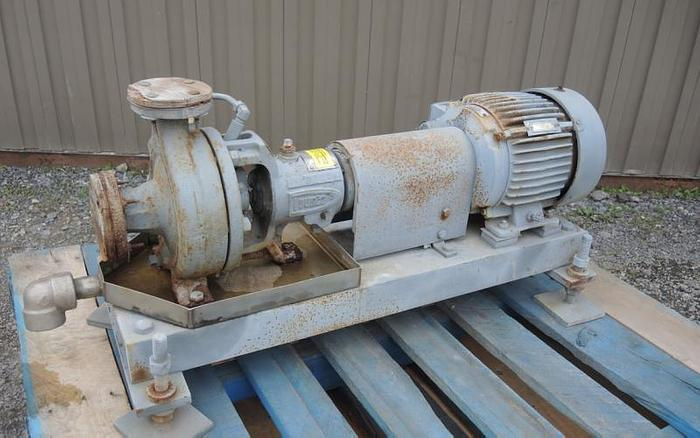 "Used USED CENTRIFUGAL PUMP, 1.5"" X 1"" INLET & OUTLET, CARBON STEEL"
