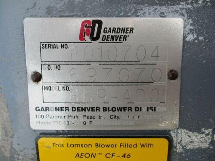 GARDNER DENVER / LAMPSON / HOFFMAN MODEL 869-ADO 200 H.P. CENTRIFUGAL BLOWER