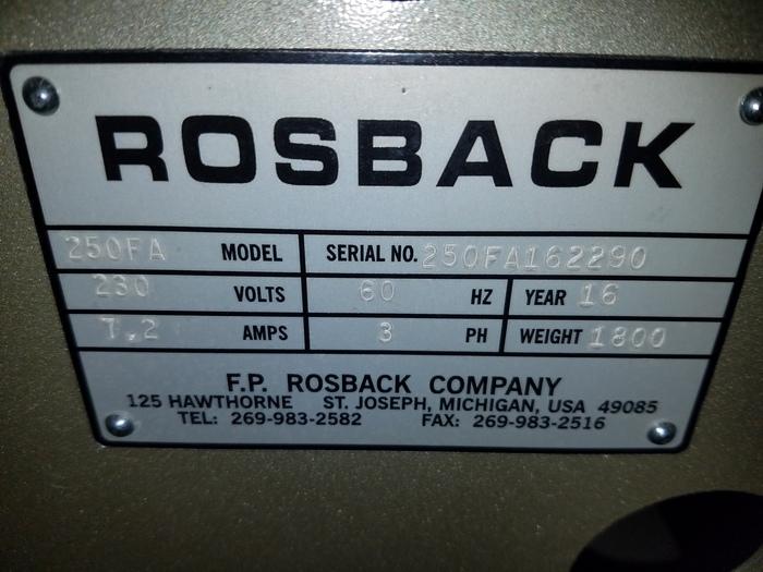 2016 Rosback 203FRC & 250FA Saddlebinder