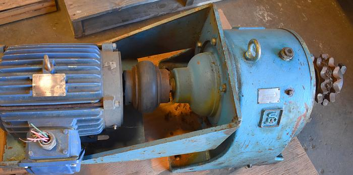 Used SKK 56 RPM gear box, SKK 10hp 56RPM AFC type In-Line reducer, gear reducer, skk gear box, hampton SKK afc type speed reducer