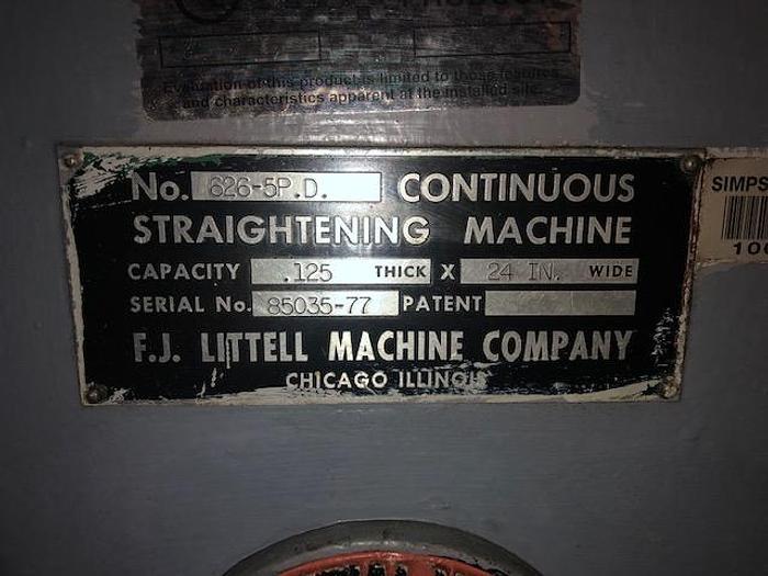 "24"" x .125"", LITTELL, No. 626-5PD, 1977, MOTORIZED STRAIGHTENER"