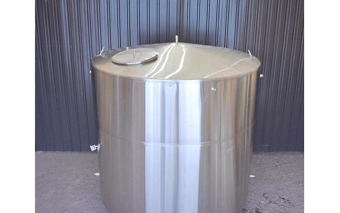 USED 1500 GALLON TANK, STAINLESS STEEL, INSULATED, SANITARY