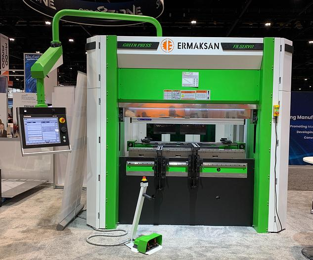 72 Ton x 6.8' Ermak Green Press FX Servo