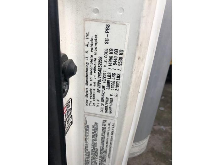 2012 HINO 338 DRY BOX TRUCK
