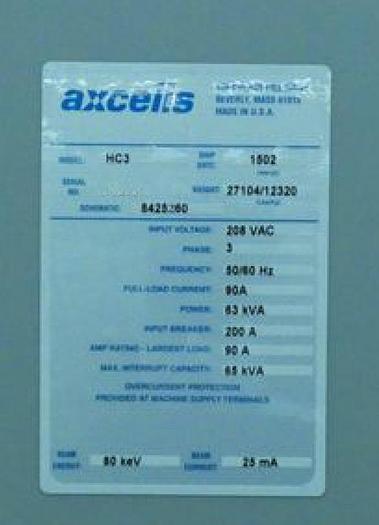 Axcelis HC3 High Current Implanter