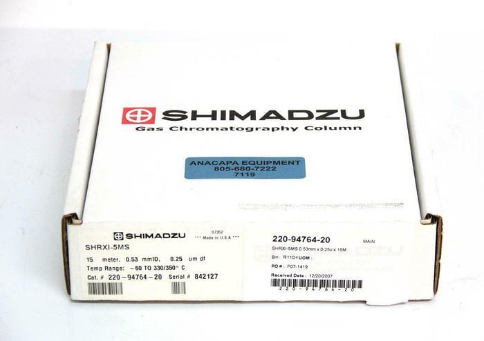 Shimadzu SHRXI-5MS GC Capillary Column 15m /0.53 mmID /0.25um 220-94764-20 (7119