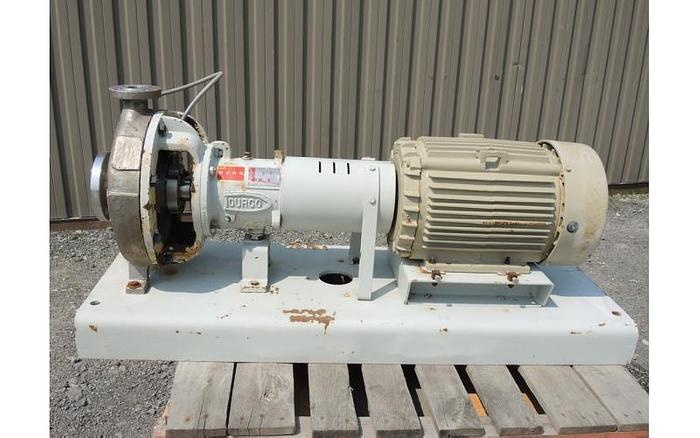 "USED CENTRIFUGAL PUMP, 3"" X 1.5"" INLET & OUTLET, 316 STAINLESS STEEL"