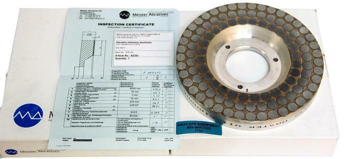 Used Meister Master Vit Diamond D32-550-H-13-250-X100-V87-39 Grinding Wheel (7753)W