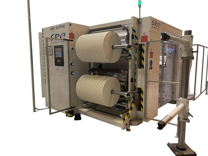 """Used 40"""" WIDE SRC SYSTEM MDL PS800 FOR PAPER STRAW SLITTING"""