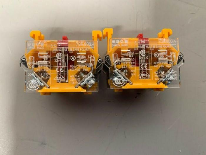 Used Lot of 2- EAO 704.900.4 Contact Blocks