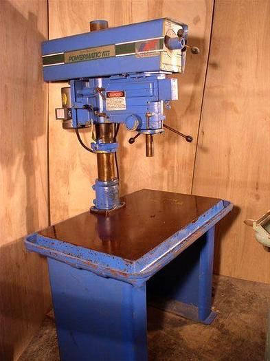 """Used 20"""" Powermatic Single Spindle Drill; Variable Speed; Floor Type 24""""x 40"""" Table; #3 M.T."""