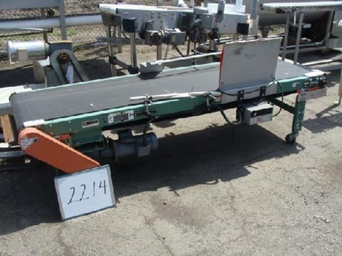 ROACH Case Conveyor 24'' Wide x 8' Long Mfg by Roach #2214