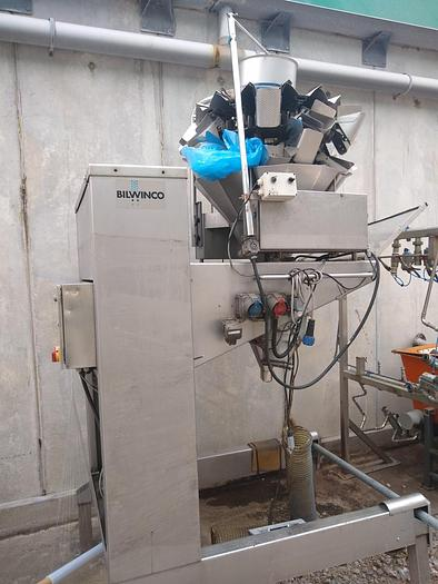 Used BILWINCO MULTIHEAD WEIGHER AND ELEVATOR
