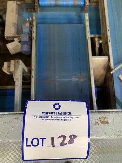 Used Stainless Steel Conveyor Belt 6.6m L 0.85m W