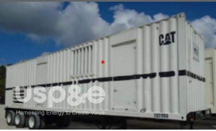 Used 2.1 MW 2001 Used Caterpillar XQ2000 3516B Diesel Generator Set
