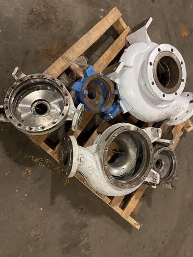 Used AHLSTROM PUMP CASINGS STAINLESS STEEL