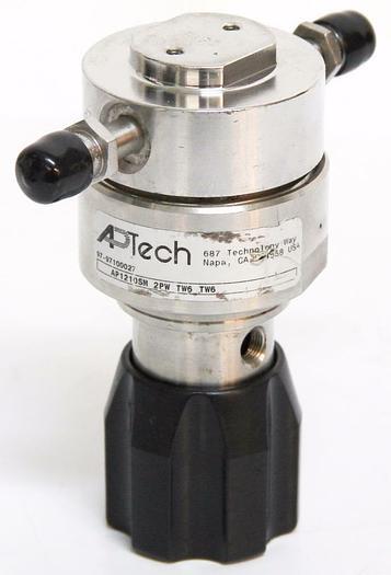 Used APTech AP1210SM Regulator 2PW TW6 TW6 1700PSI CGA 316 Male Tube Weld Ports (4451