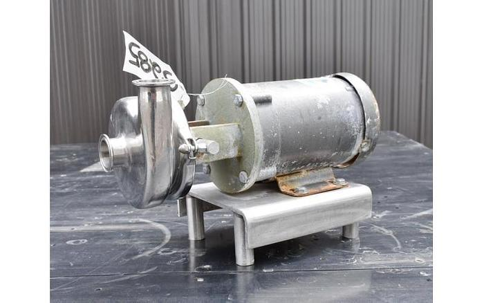 """USED CENTRIFUGAL PUMP, 1.5"""" X 1.5"""", STAINLESS STEEL, SANITARY"""