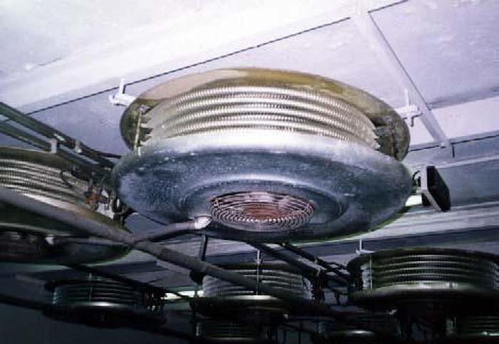 Używane Chłodnice podsufitowe freonowe okrągłe