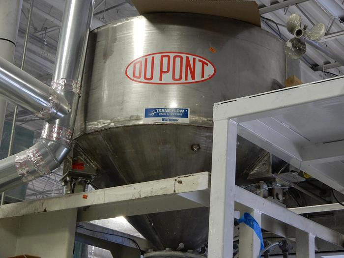 Used DUPONT AIR WEIGH HOPPER WITH DOUBLE SHAFT MEYERS DISPERSER AND TANK