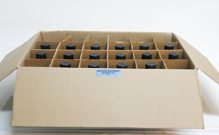 Kimble 61100-500 Kimax Media Lab Bottles 500ml w/ Black Caps Lot of 16 NEW (5813