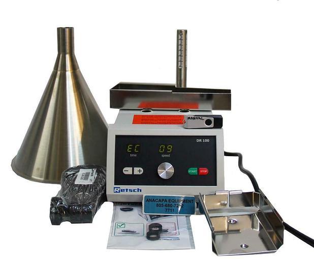 Retsch DR100 Vibratory Feeder 110-120V +/- 5% 60Hz 24W/0,12A NEW (7711) W
