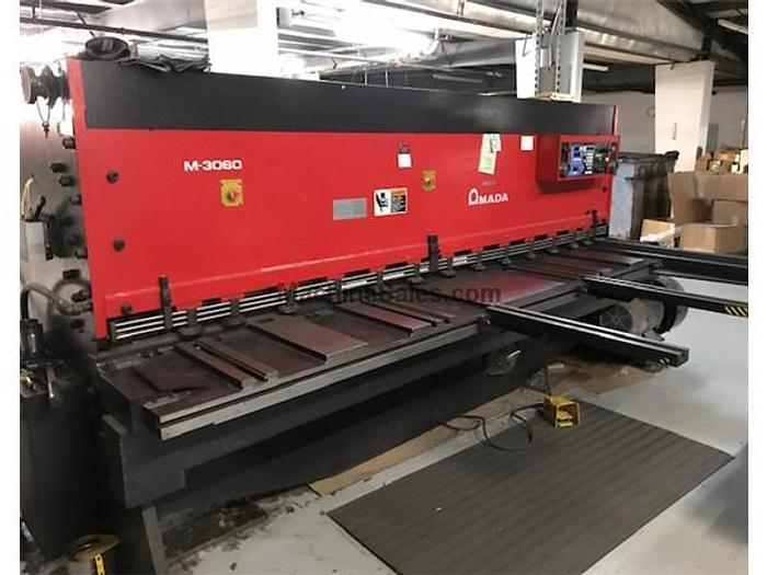"2001 10'x1/4"" Amada M-3060 CNC Mechanical Shear"