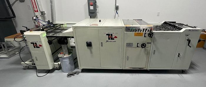 """Used TEC Lighting 30"""" UV Coater with Feeder & Stacker    Available Oct. 7"""