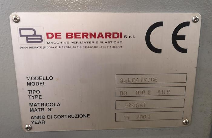 2001 De Benardi 100 E SH 9 for the production of film soft loop handles bags