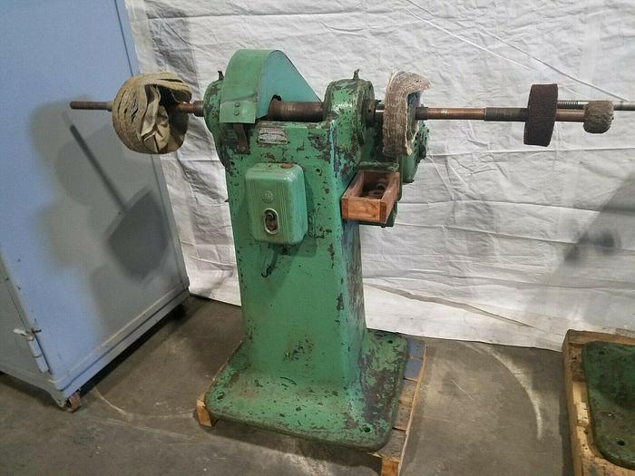Used Polishing Buffing Jack Lathe Double Spindle 550V 5 HP