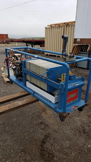 Used LAB JWI FILTER PRESS ON CART WITH DIAPHRAGM FEED PUMP (#9774)