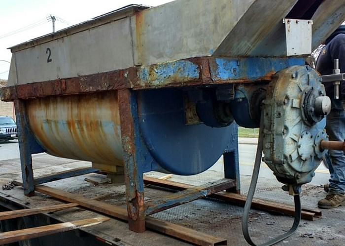 Used 100 cuft Ribbon Blender SS