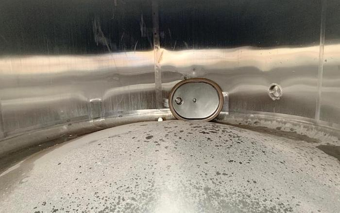 USED 3500 GALLON TANK, STAINLESS STEEL, WITH MIXER
