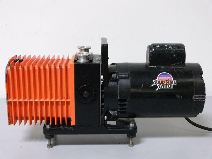 Used Alcatel 2008A Dual Stage Rotary Vane Vacuum Pump w/ Franklin 1/2 HP Motor
